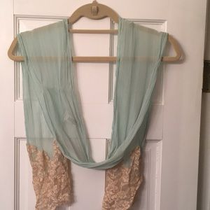 Lightweight Silk And Lace Scarf